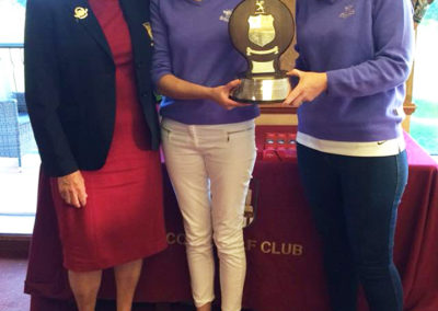 Cork C.C., Lady Captain with winners Michelle Keating and Joanne Quaid