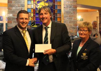 David Ryan of Cahir Park Golf Club, Tied second with Paul Eivers Mens Captain and Marie Devitt Ladies Captain